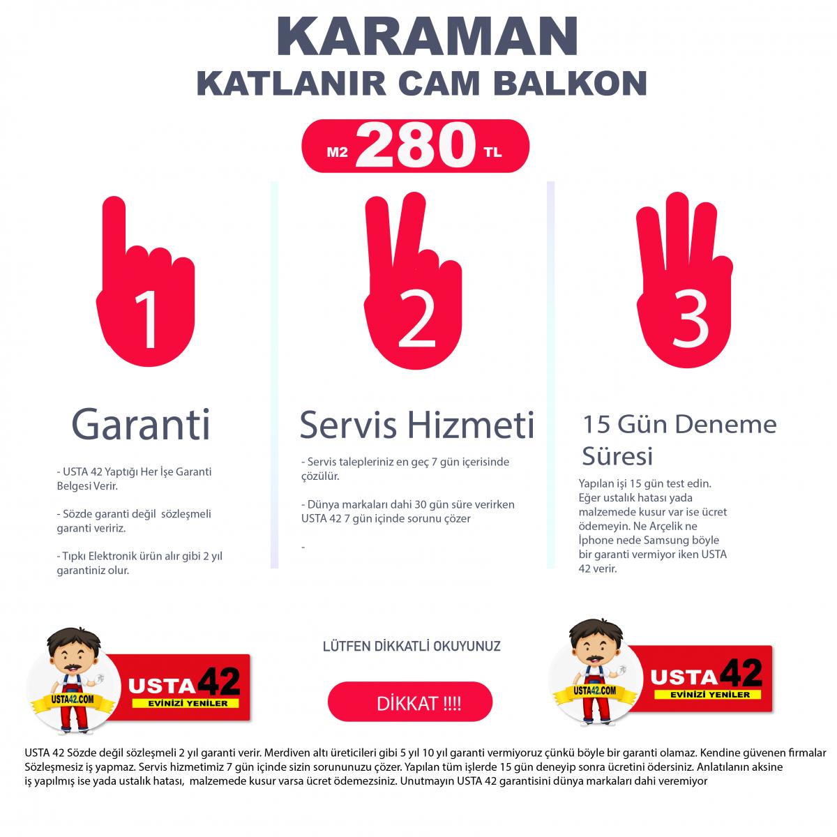 KARAMAN CAM BALKON