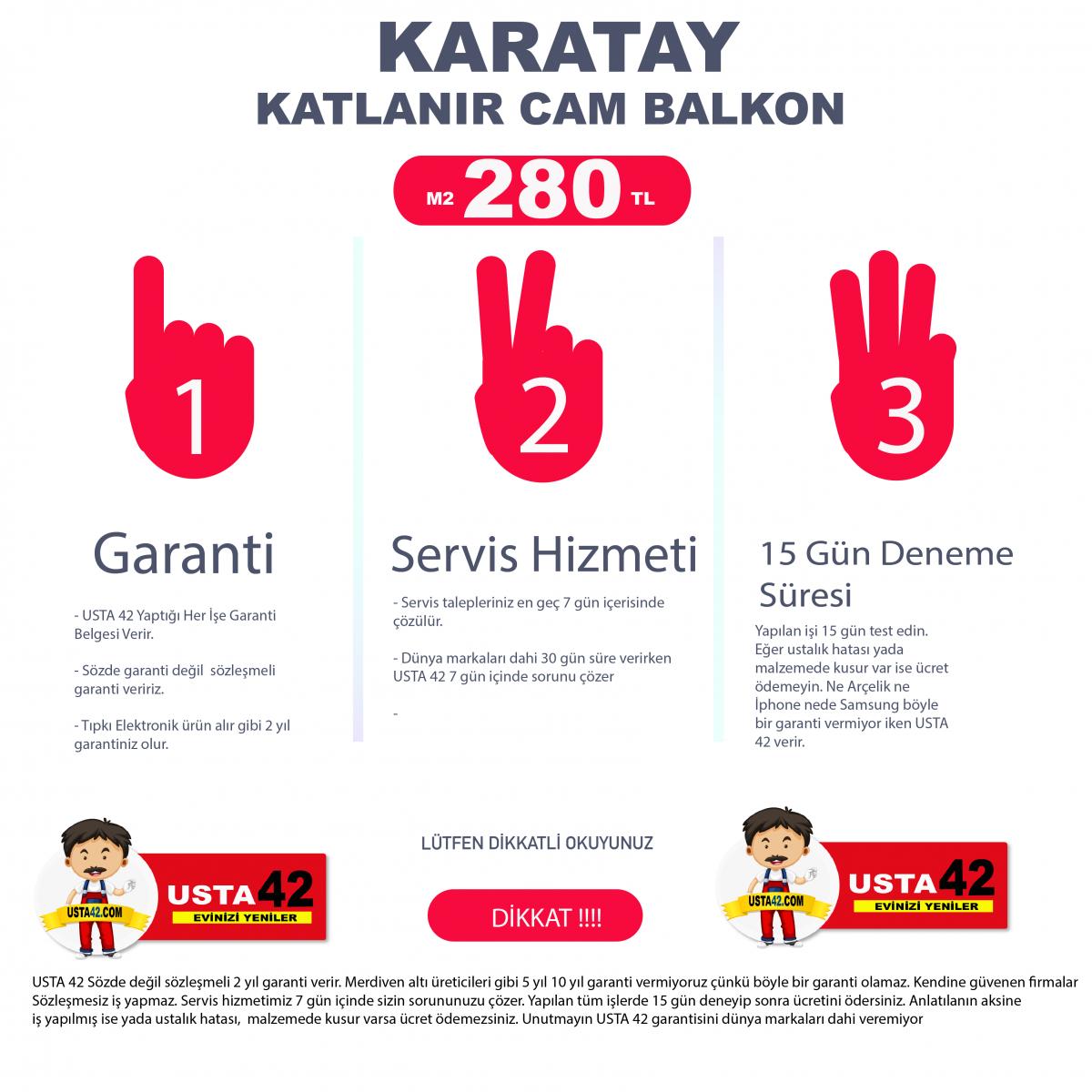 KARATAY CAM BALKON